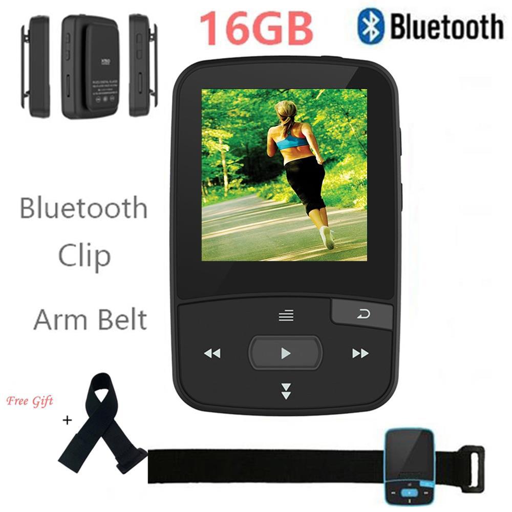 16GB Mini Clip Bluetooth MP3 Player Original CHENFEC-C50 Por