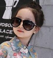 Curtain Fashion Children Sunglass Boy Girl Kid Baby Child Sunglass Goggles uv400 sunglass arrow big frame cat eye sunglass