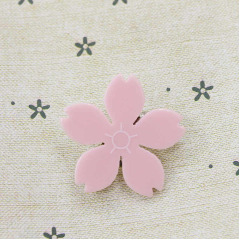 Bunga Sakura Jepit Rambut untuk Gadis Merah Muda Bunga Rambut Pins Aksesoris Anak Rambut Pin dan Klip Anak Jepit Rambut untuk Wanita di Hai