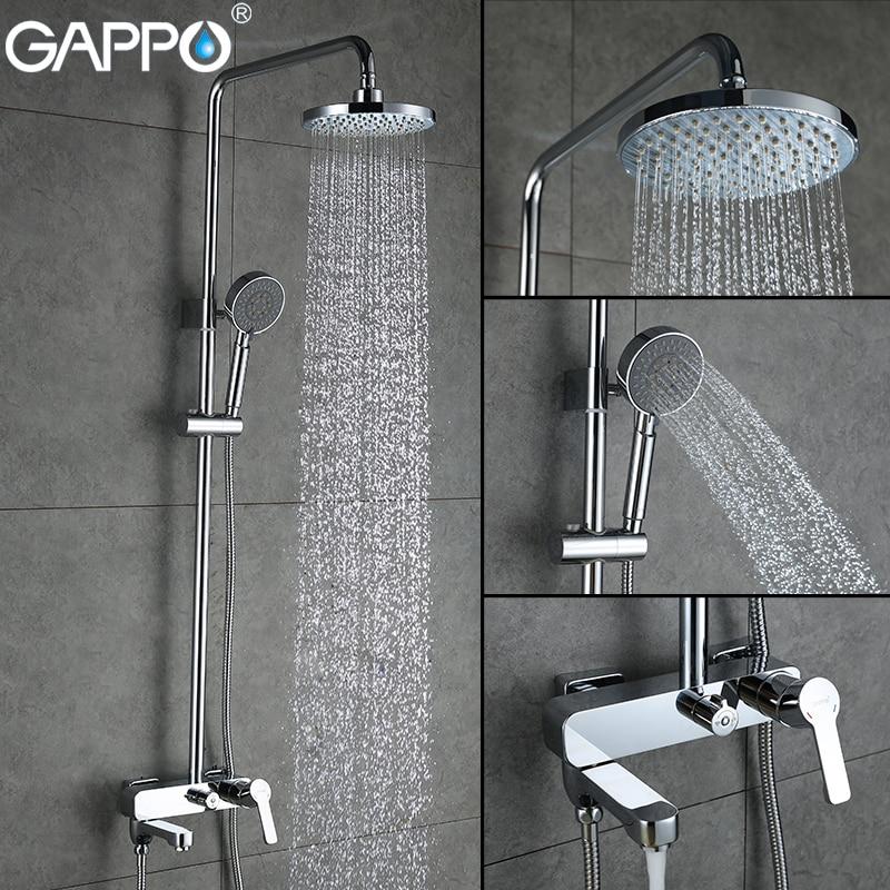 GAPPO robinets de douche de bain ensemble mitigeur de baignoire robinet bain pluie robinet de douche salle de bains pomme de douche inoxydable barre de douche GA2402GAPPO robinets de douche de bain ensemble mitigeur de baignoire robinet bain pluie robinet de douche salle de bains pomme de douche inoxydable barre de douche GA2402