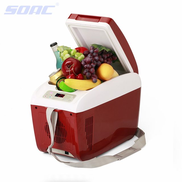 Portable Refrigerator 60W Aluminium ABS Shell with Teflon Coating for Automotive Dual-Use Car 12V and Optional Indoor 220V