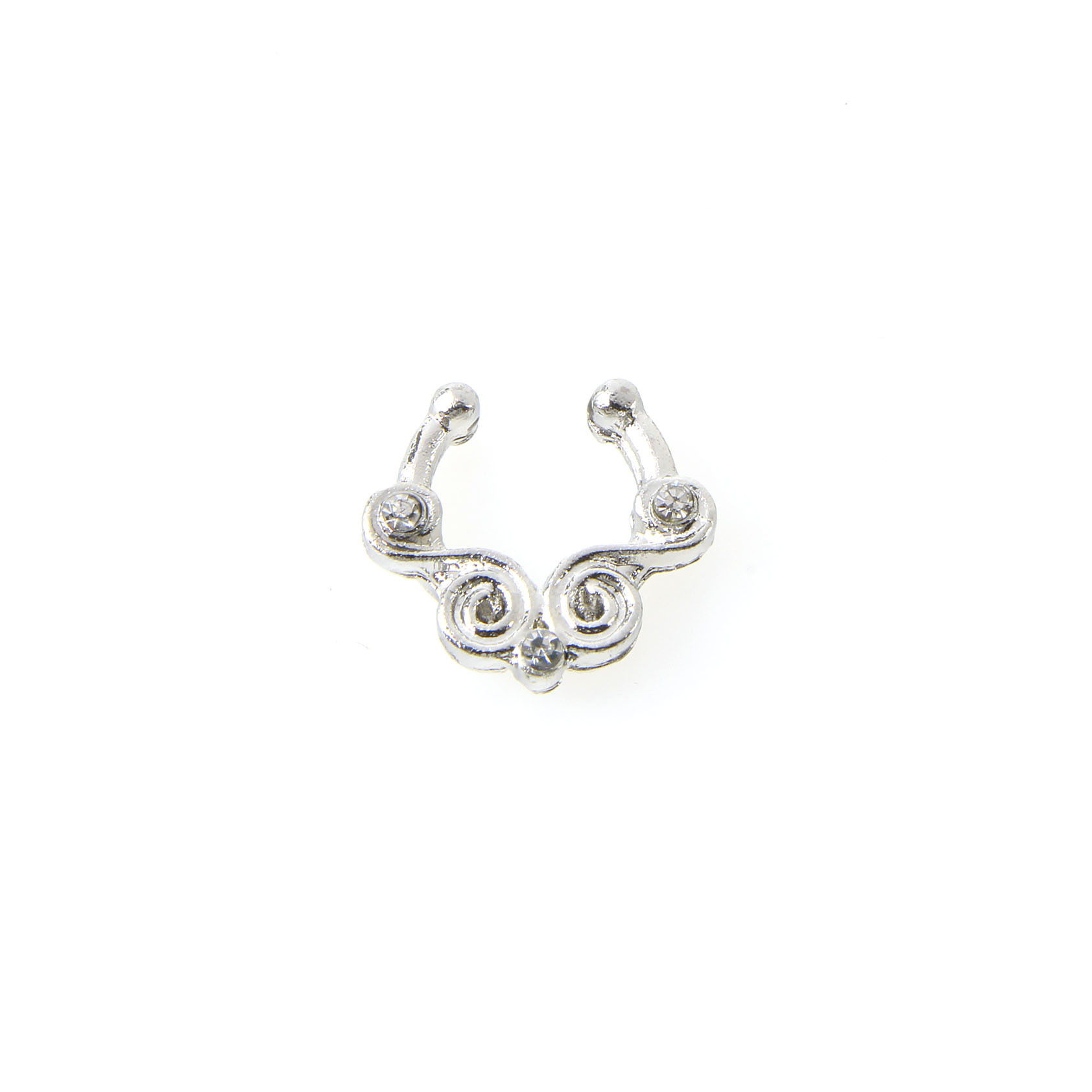 Manufacturers selling fake nose ring punk stainless steel rod C nose nail  puncture V X body jewelry -in Body Jewelry from Jewelry   Accessories on ... 2ecf470764e7