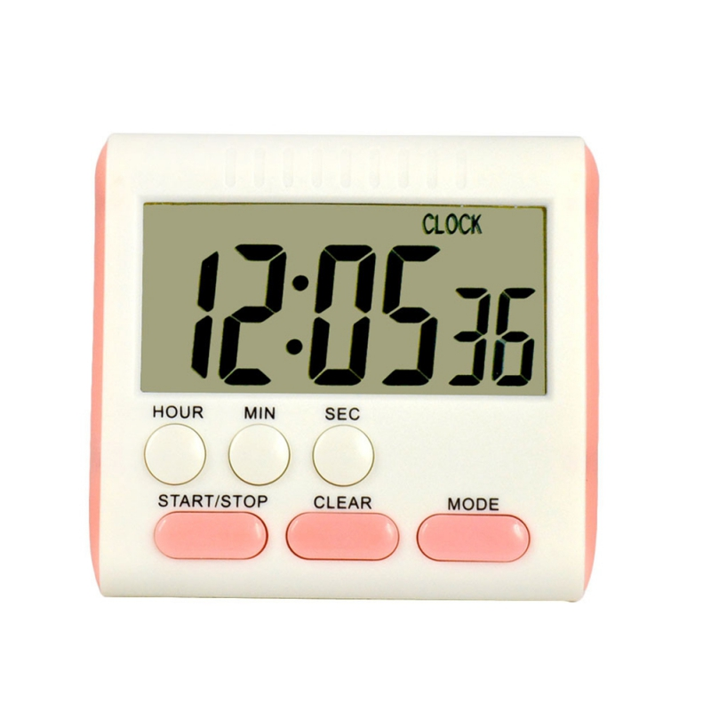 Magnetic Large LCD Digital Kitchen Timer with Loud Alarm Count Up& Down Clock 24 Hours 3A Battery Kitchen Timer