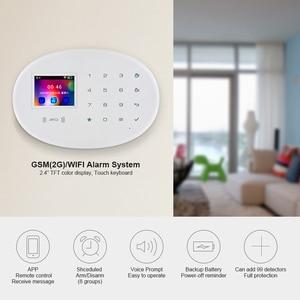 Image 2 - KERUI W20 nowy Model bezprzewodowy 2.4 calowy Panel dotykowy WiFi zabezpieczenie GSM System antywłamaniowy aplikacja na telefon karta RFID kontrola dla domu