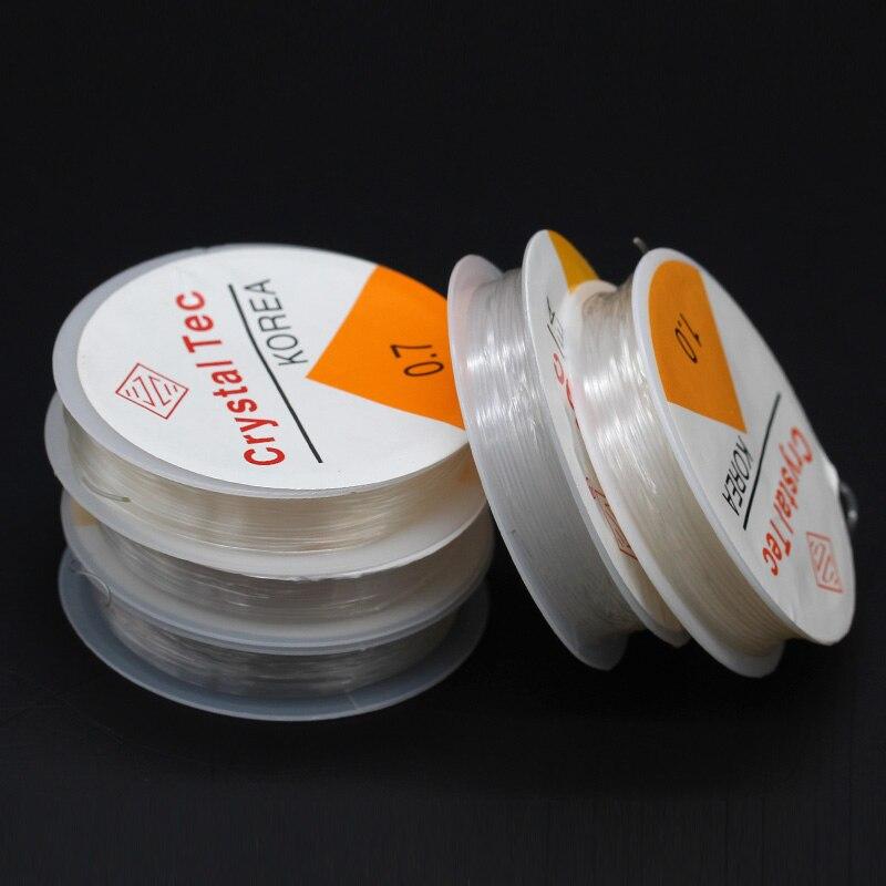 1/10 рулонов, 0,5/0,6/0,7/0,8/1 мм, прозрачный нейлоновый прочный растягивающийся шнур, нить для ювелирных украшений, эластичная леска для бисероплет...
