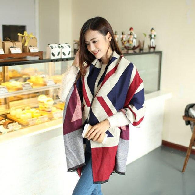 00aa5ceaf 2016 fashion winter 200*70cm big size women desigual brand scarf warm cashmere  scarves union jack British flag calavera shawl