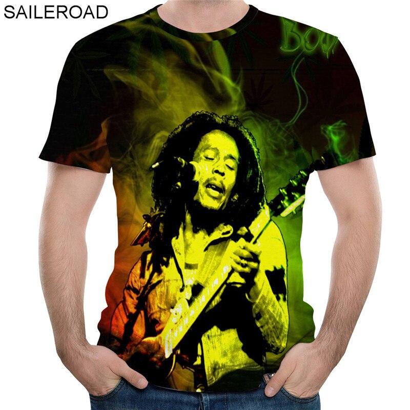 Newest Women Men T-Shirt 3D Print Bob Marley Short Sleeve Summer Tees Plus Size