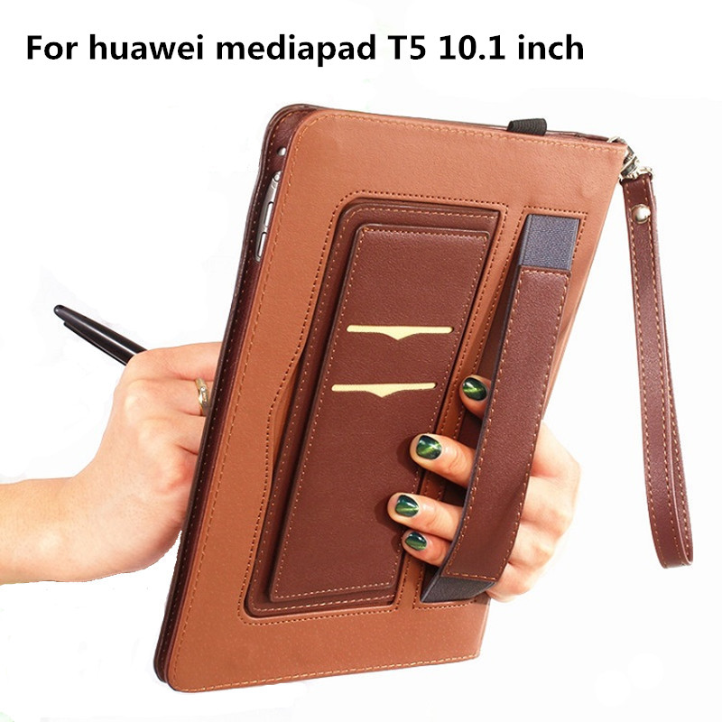For Huawei Mediapad T5 Case Protective Cover 10.1 Inch Tablet Leather Case All-Inclusive Anti-Drop Protective Shell