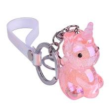 Acrylic Crystal Keychain Creative Cartoon Unicorn Pendant Car Bag Hanging Gifts