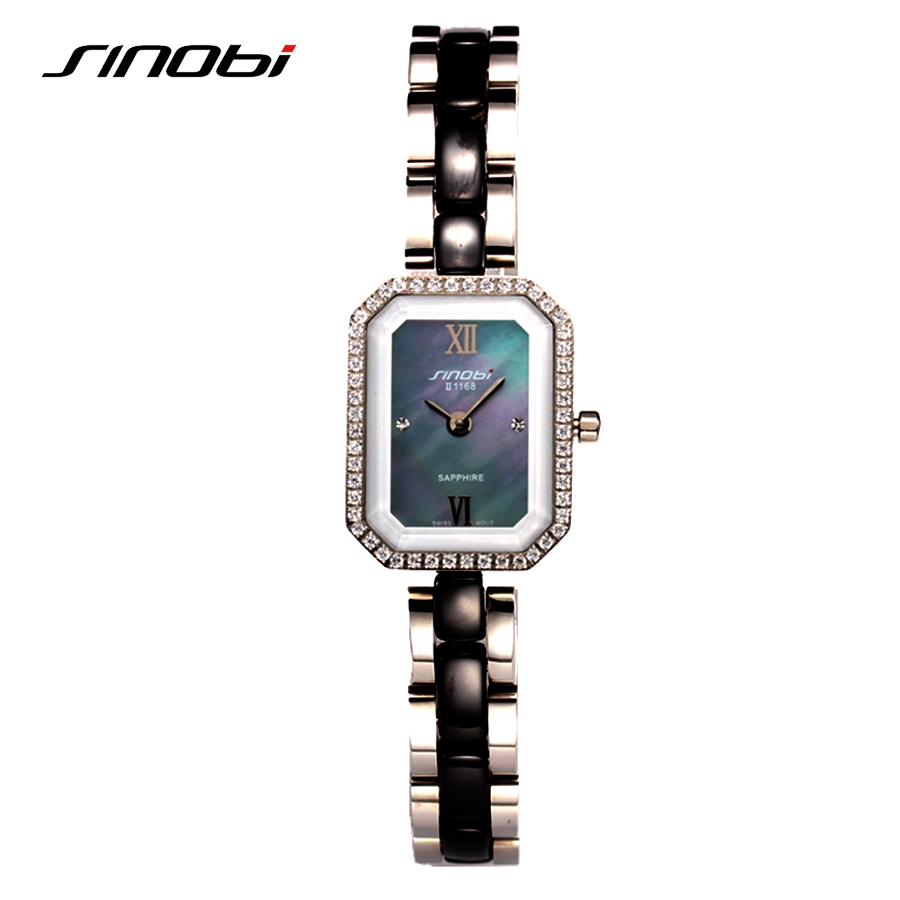 SINOBI Watch Women 2017 Top Quality Relogio Feminino Stainless Steel Strap Fashion Quartz-Watch Luxury Ladies Wristwatch 1168 misscycy lz the 2016 new fashion brand top quality rhinestone men s steel band watch quartz women dress watch relogio feminino