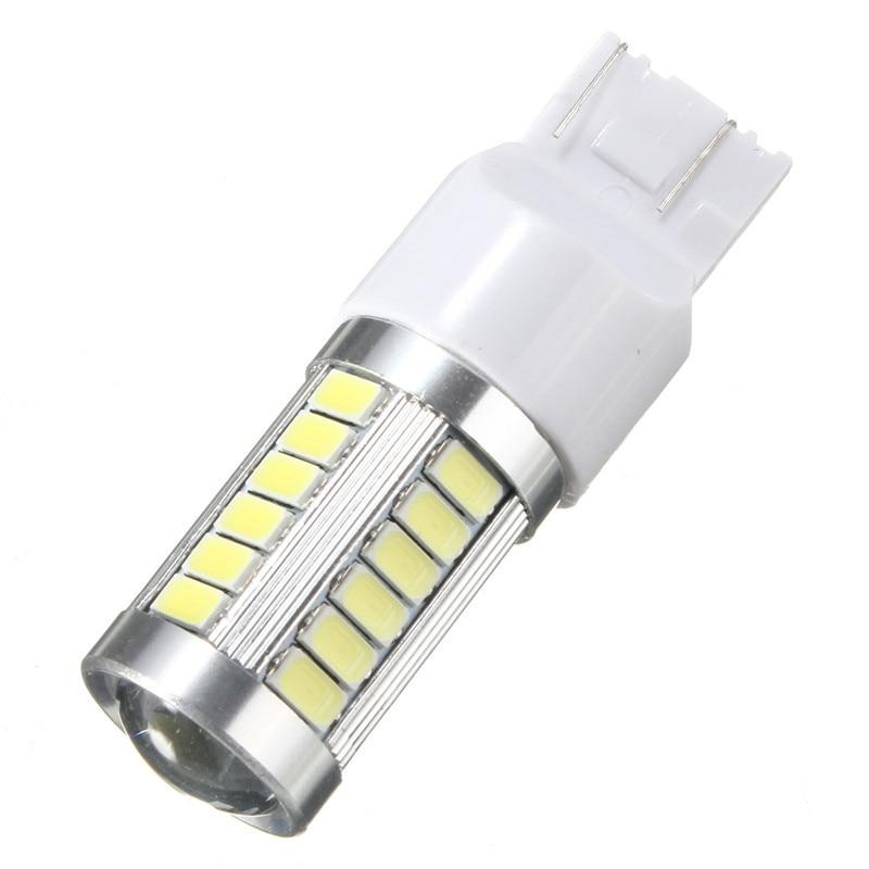 T20 5630 7440 33LED Lens White High Power Backup Reverse Turn Signal LED Light Car Signal Lamp Brakes Lights Lighting