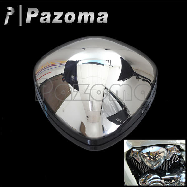 PAZOMA Chrome Motorcycle Air Cleaner Filter Cover for Suzuki Boulevard M109 M109R VZR1800 Left/Right Side 53000459