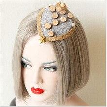 Handmade Original Bohemia Small Top Hat Female Personality Headwear Hairpins Vintage Hair Accessories