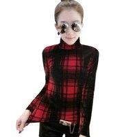 Women T Shirt Plus Size 3XL 2018 Turtleneck Long Sleeve Fashion Europe And America Casual Slim