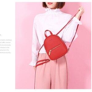 Image 5 - Weichenデザイナーファッション女性バックパックソフトレザー女性スモールバックパック女性のショルダーバッグmochilaバックパック 2020 bagpack