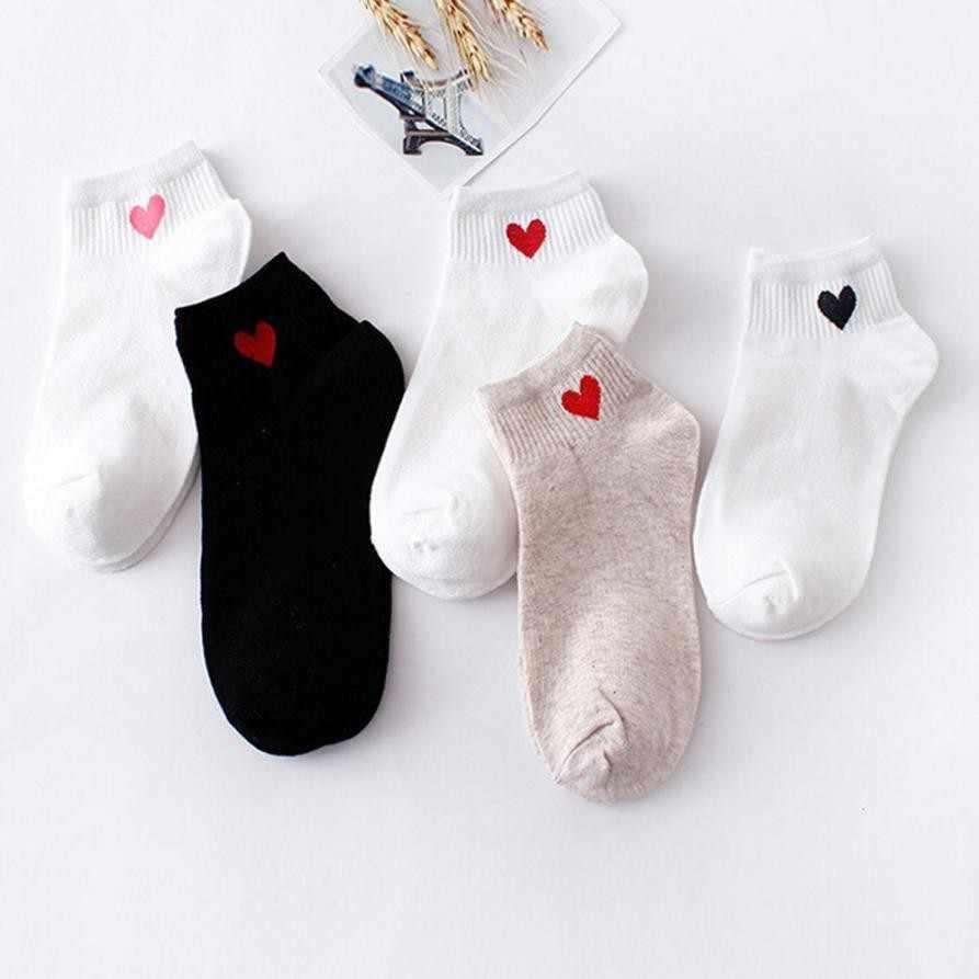 قلب لطيف كلية الرياح بسيطة الإناث الجوارب النساء موضة سكيت جورب الجوارب مريحة