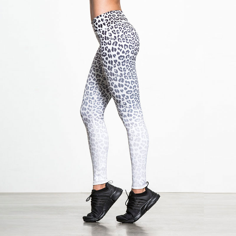 Wild Sexy! Women Leopard Leggings New Print Black White Sportswear Female Force Exercise Elastic Slim Workout Clothes Drop Ship