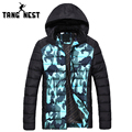 TANGNEST Patchwork Camouflage 2017 New Parka Winter Hooded Warm Sky Blue & Army Green Warm Thick Fashion Coat MWM1412
