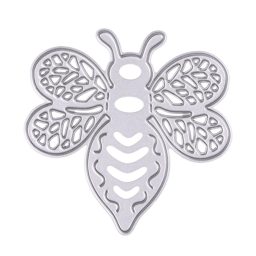 1 шт. Симпатичные Bee Pattern Металла Штанцевых форм Трафареты для DIY Скрапбукинг Die Cuts Свадебная Карта Фотоальбом Тиснения Ремесла Умирает