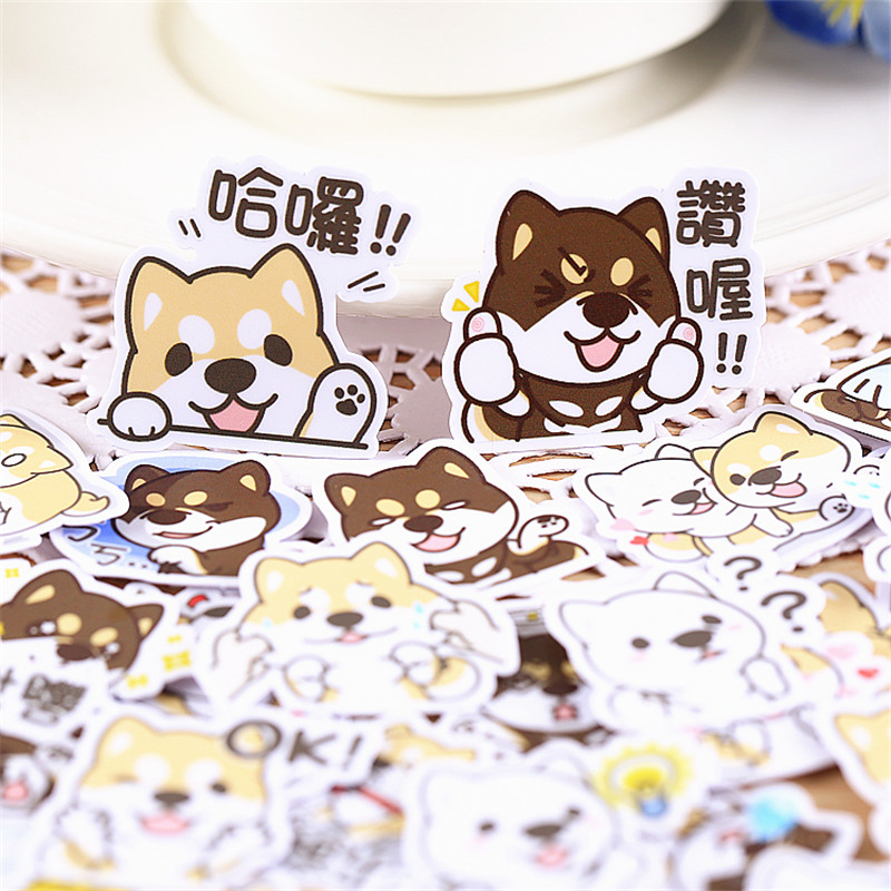 35 PCS Anime Mini Cute Puppies Paper Stickers Crafts And Scrapbooking Stickers Kids Toys Book Decorative Sticker DIY Stationery