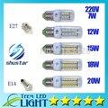 Bom 7 W 12 W 15 W 18 W 20 W E27 E14 lâmpada LED de Alta luminosa 60leds 5730SMD Milho light Bulb 220 V Lustre lanterna Holofotes Energia Solar