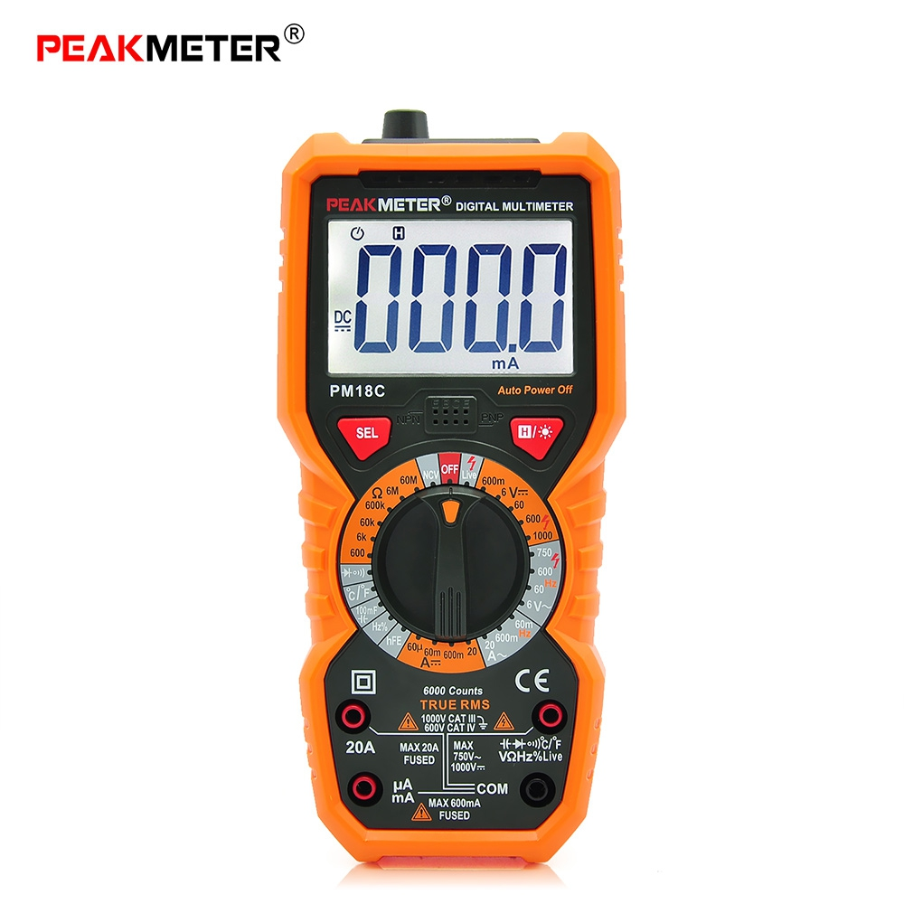 Digital Multimeter New Multimetro Voltage Current Resistance Tester Capacitance Frequency Temperature hFE NCV diagnostic-tool 1 pcs mastech ms8269 digital auto ranging multimeter dmm test capacitance frequency worldwide store