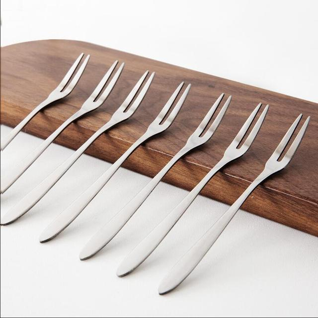 20 Sets Of 304 Stainless Steel Fruit Fork Cake Fork Dessert Knife