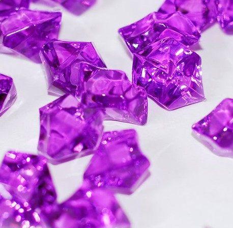 Online Shop 180pcslot Purple Acrylic Ice Rock Diamonds Table