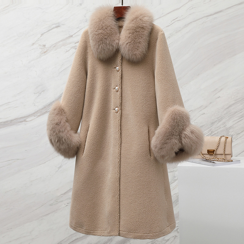 Streetwear Wool Jacket Autumn Winter Coat Women Clothes 2019 Real Fur Coat Korean Vintage Sheep Shearling Suede Lining ZT3440