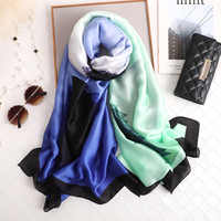 LaMaxPa 2019 New Fashion Silk Scarf For Women/Ladies Long Soft Flower Printing Wraps and Shawls Summer Beach Female Foulard