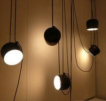 Black/White Shade Modern Creative Pendant Lamp Fashion Nordic Dining Table Hanging Light Fixture DIY Luminaire office lighting