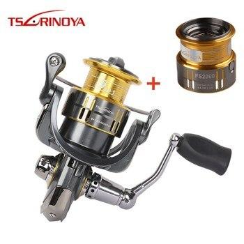 Tsurinoya 2000 Size Spinning Fishing Reel 9+1BB/5.2:1/5kg Steering Wheel Lure Reels with Spare Spool Moulinet Peche Feeder