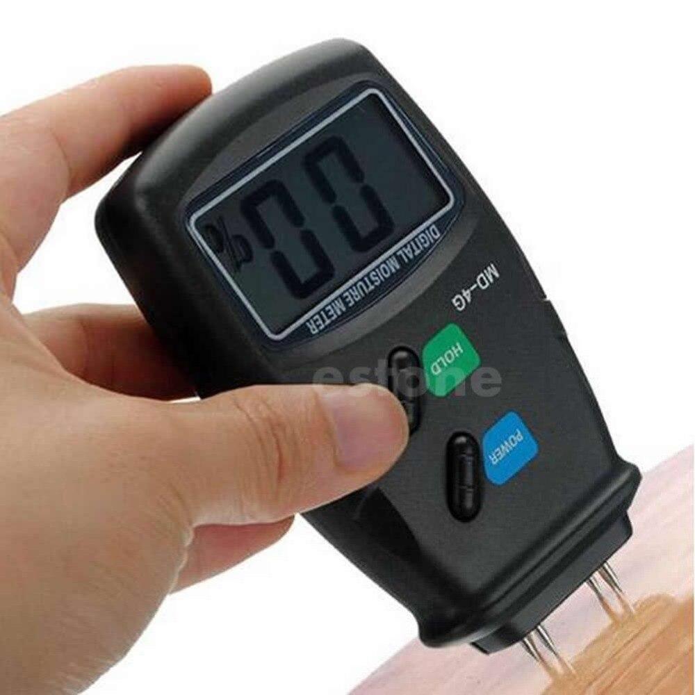 Newest Digital 4 Pin LCD Wood Moisture Humidity Meter Damp Detector Tester 5%-40% #37144#