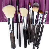Professional Makeup Brushes Set 10 Pieces Synthetic Hair Makeup Tools Kit With Case