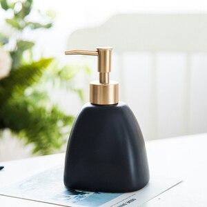 Image 5 - Shower Gel Bottle Hotel Liquid Soap Dispenser Bathroom Portable Ceramics Pump Detergent Sanitizer Bathroom Soap Dispenser
