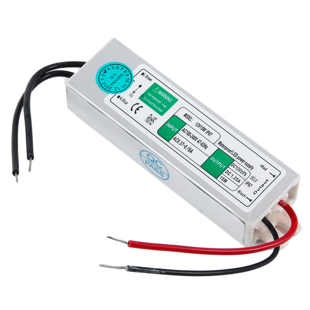 Dc 12v 15w led power supply electronic driver transformer ip67 dc 12v 15w led power supply electronic driver transformer ip67 waterproof adapter electronic outdoor led strip workwithnaturefo