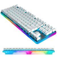 CENNBIE компактная Механическая игровая клавиатура 87 клавиши с тактильной Cherry MX Brown 360 градусов Радуга светодиодный с подсветкой