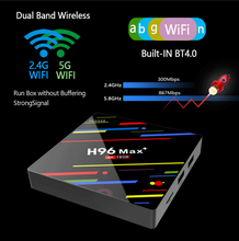 H96 MAX Plus TV Box Android 9.0 Smart Set Top Box RK3328 4GB 16GB 32GB 64GB 5G Wifi 4K H.265 Media player H96 Pro H2 PK X96 MAX