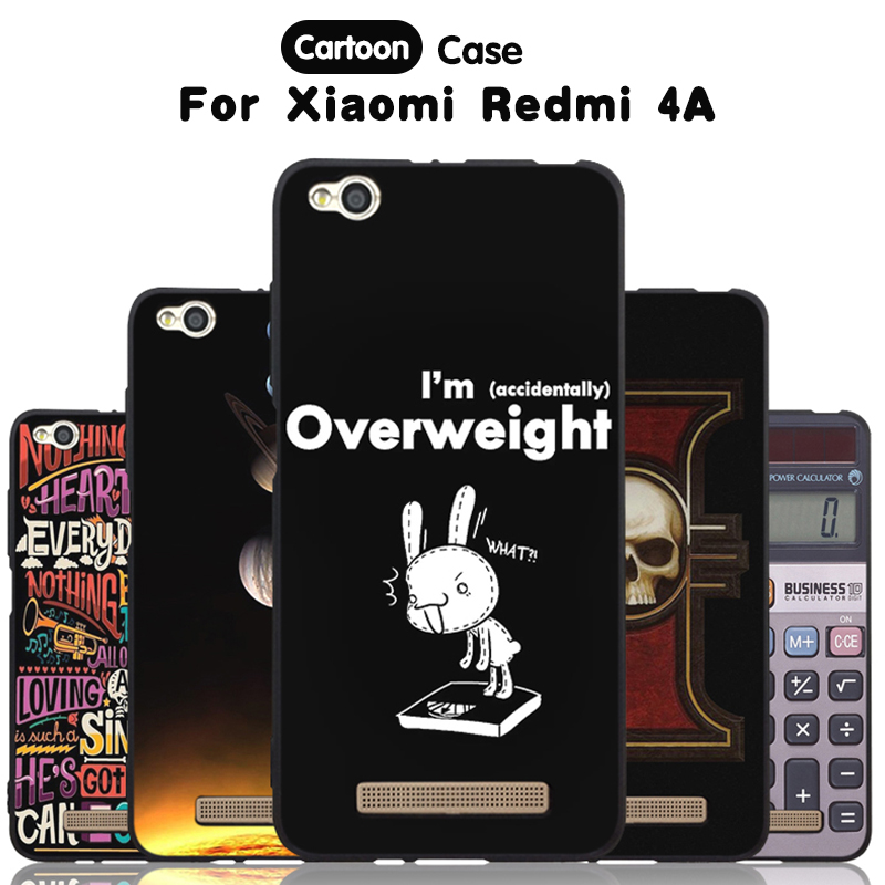 JURCHEN Phone Case For Xiaomi Redmi 4A Case For Xiomi Hongmi 4A Cover Cartoon Paint Silicone Cover For Xiaomi Redmi 4A Case