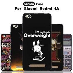 JURCHEN Téléphone Cas Pour Xiaomi Redmi 4A Cas Pour Xiomi Hongmi 4A Couverture de Bande Dessinée Peinture Silicone Couverture Pour Xiaomi Redmi 4A Cas