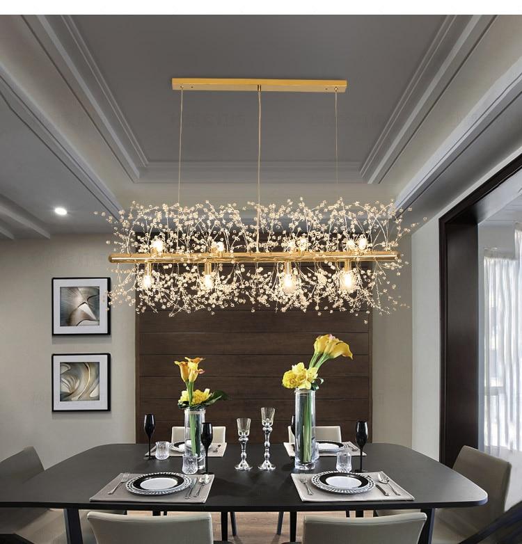 Avenila crystal winter chandelier