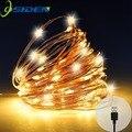 USB LED String Licht 10M 5M Wasserdichte Kupfer Draht Außen Beleuchtung Streicher Fairy Lichter Für Weihnachten Hochzeit Dekoration|Lichterketten|Licht & Beleuchtung -