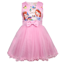 2019 New Girls Rapunzel Dress Up Kids Snow White Princess Costume Little Sofia Party Cosplay Clothing 3-8Y