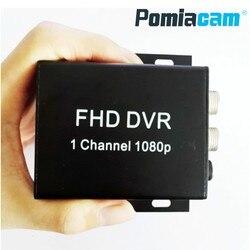 Nuevo FHD MDVR 1 canal 1080p full AHD H.264 grabadora DVR móvil para Taxi Bus vehículo 1CH mini coche dvr soporte máximo 128GB tarjeta sd