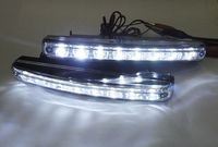 Super White 8 LED Daytime Running Light Daylight Lamp DRL Kit Parking Fog Car