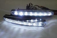 Super White 8 LED Daytime Running Light Daylight Lamp DRL Kit Parking Fog Car