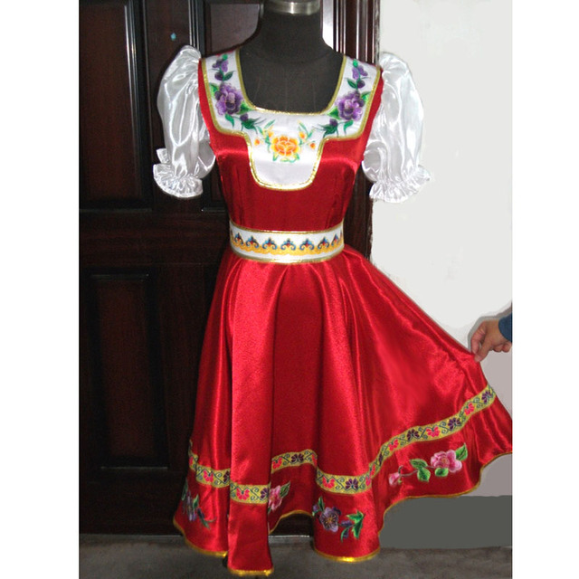 338ea01c984 На заказ русские народные танцевальные костюмы платье для взрослых детей