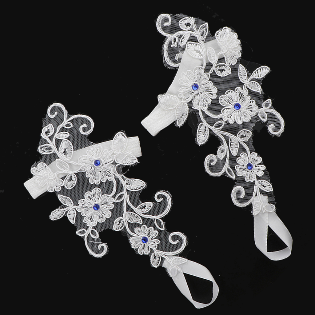 1 Pair of Lace Flower Bridal Anklets Barefoot Sandals Beach Foot Chain