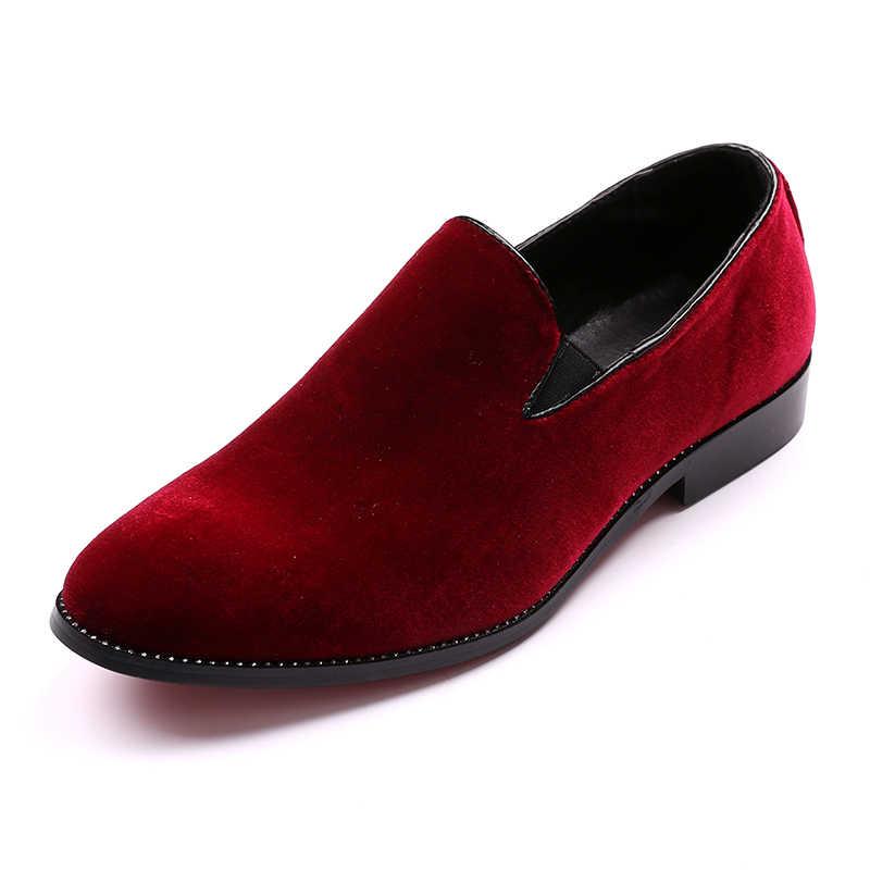 2016 Vintage Kadife Erkek Rahat Ayakkabılar Yaz Yeşil Loafer'lar Nefes Flats Terlik Mokasen Kırmızı Dipleri erkek ayakkabısı Zapatos Hombr