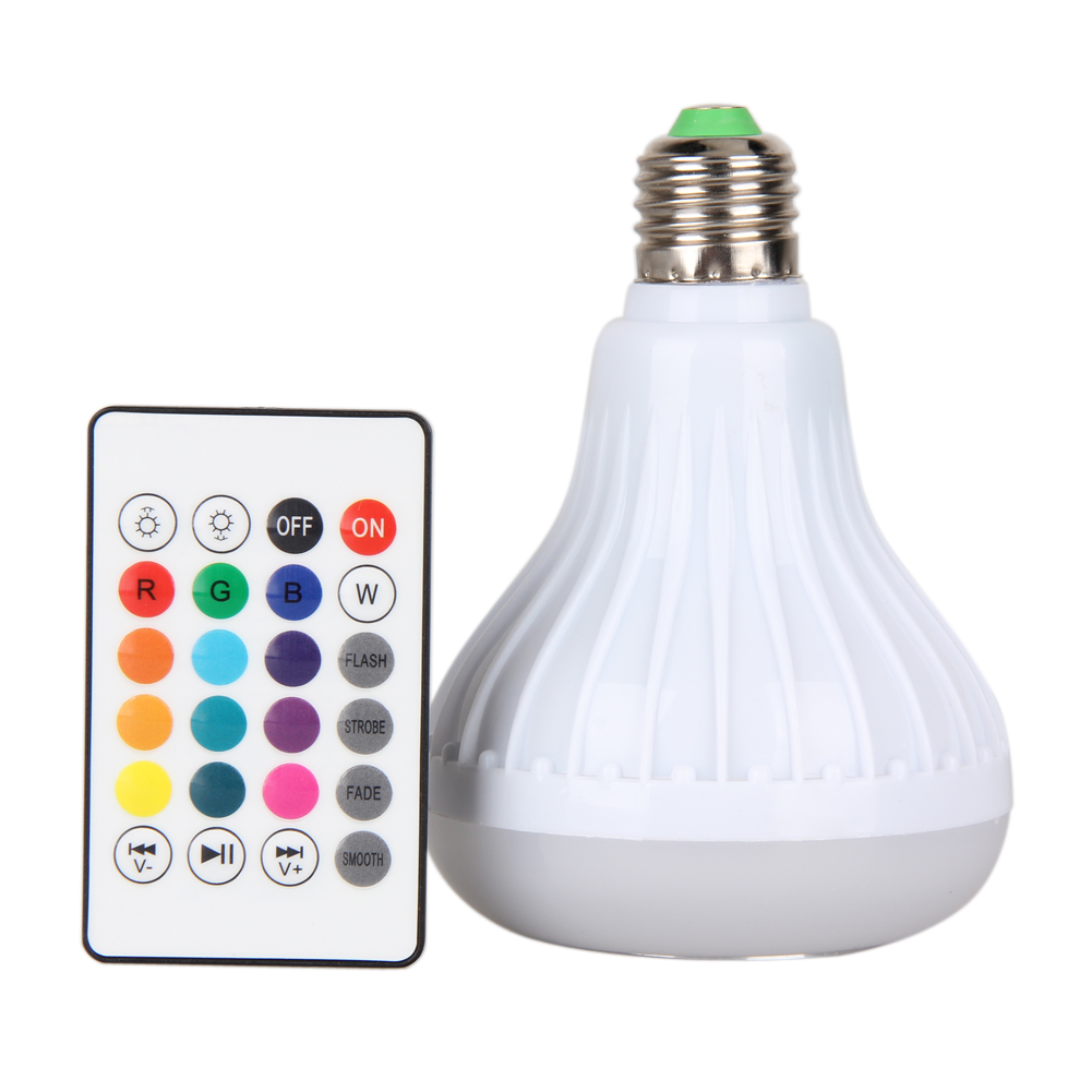 E27 6W Bulb Shape Colorful LED Speaker Bluetooth Control Smart Music Audio Speaker Home Party Bulb